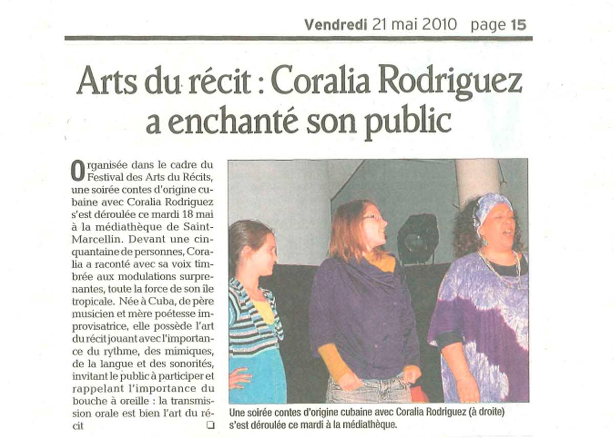 Coralia Rodriguez - Actriz y Narradora